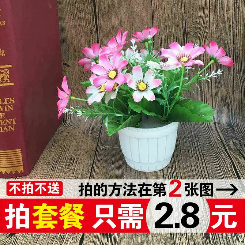 Decorative artificial flowers artificial flowers plastic flowers living room desk decoration small potted chrysanthemum jump orchid flower roses ornaments background
