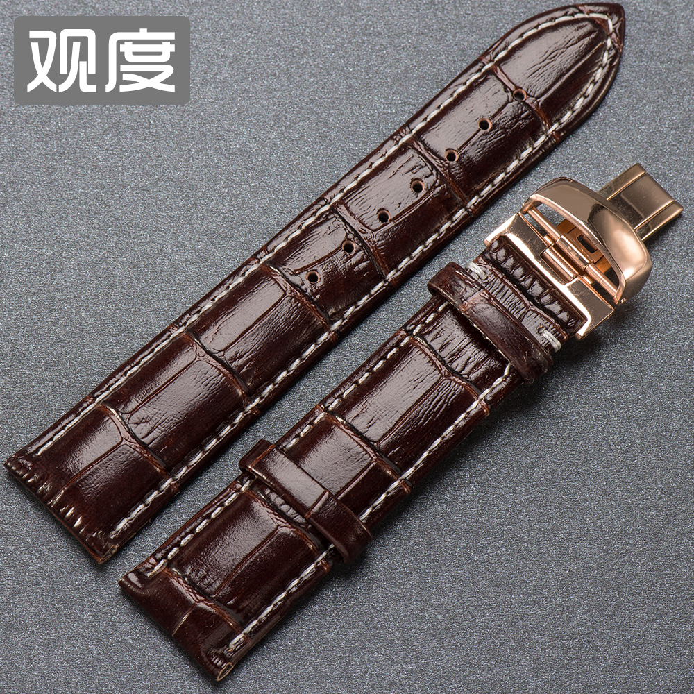 Degree view of the proxy rudder watch band strap mido mido baroncelli m8600b leather watch band