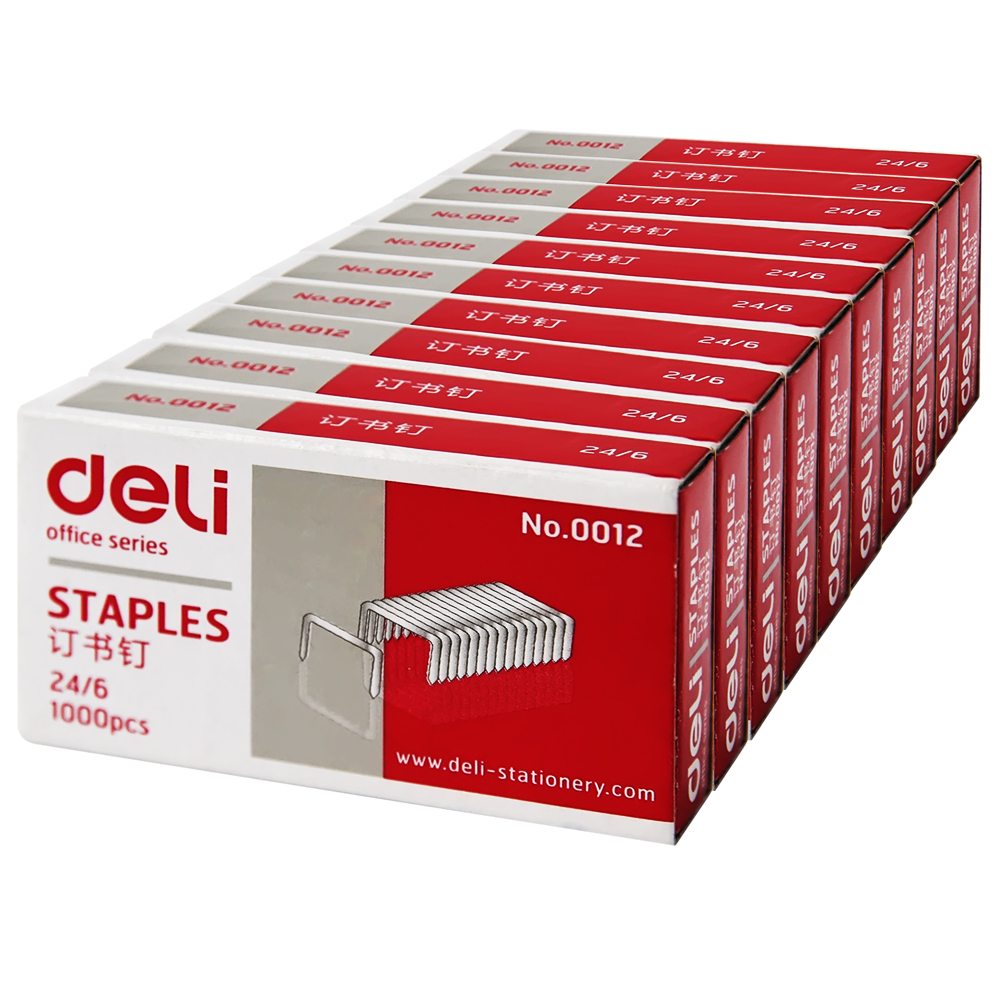 Deli 0012 three pin a nail staples/unified staples/24/6 staples/12 10å·nail