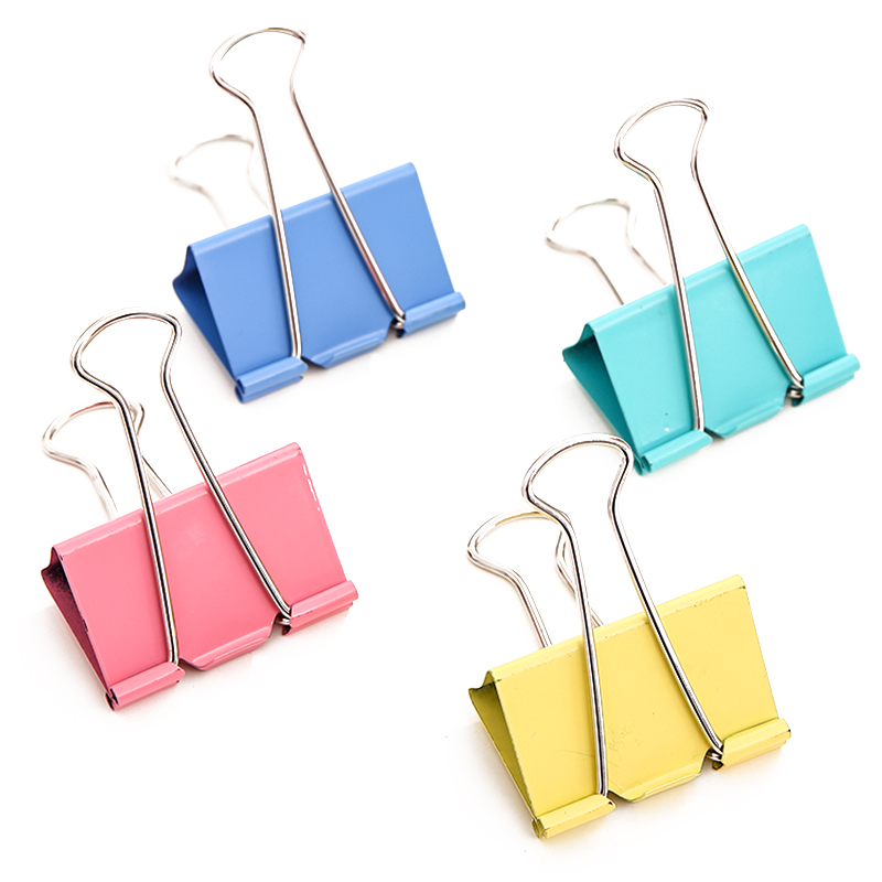 Deli 25mm trumpet color metal paper clip binder clips ticket clip dovetail clamp 8554 office dedicated shipping