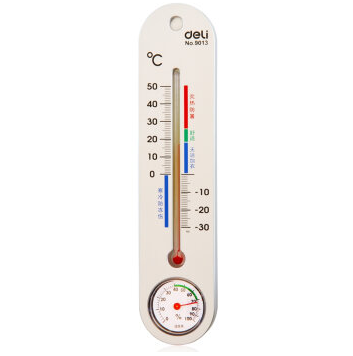 Deli 9013 indoor and outdoor thermometer hygrometer household thermometer baby thermometer children thermometer can be hung