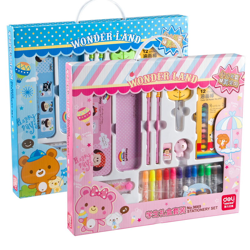 Deli 9669 students stationery set gift set gift set new year gifts essential student stationery