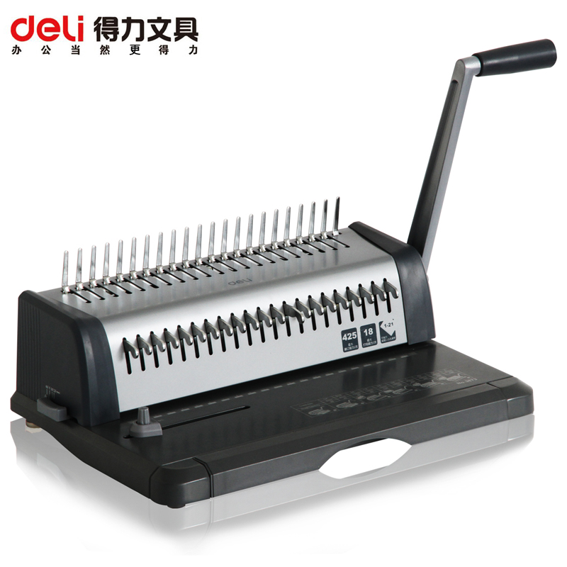 Deli deli 3873 heavy duty punch binding machine comb binding machine comb binding machine punch 18
