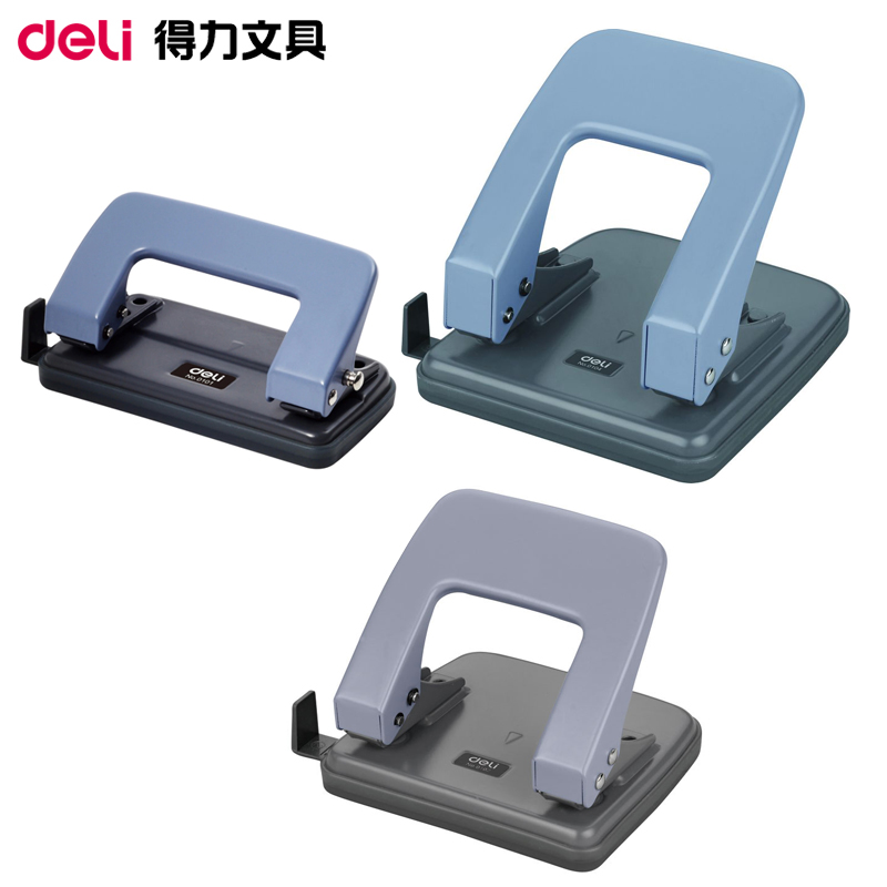 Deli hole punch binding manual two hole drilling machine excavators 2 hole binder paper office stationery
