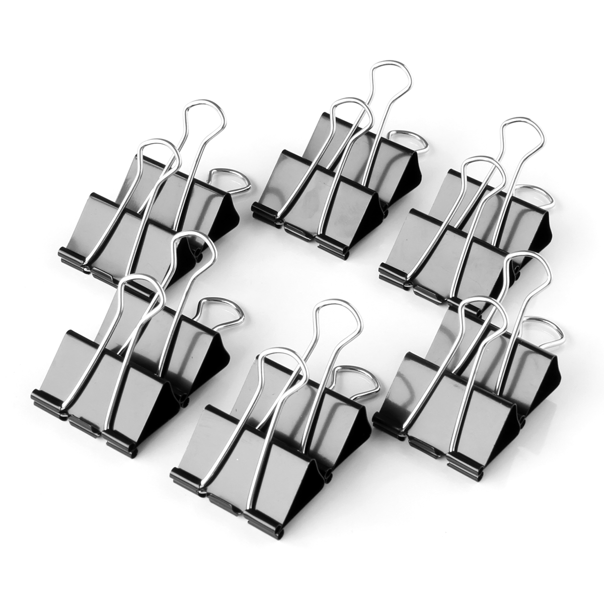 Deli stationery 19mm black binder clips 12/box 9545 dovetail clamp clip purse