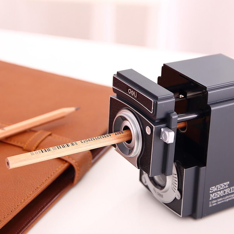 Deli stationery office 0668 andshade camera retro office pencil sharpener pencil sharpener pencil sharpener pencil sharpeners adjustable thickness