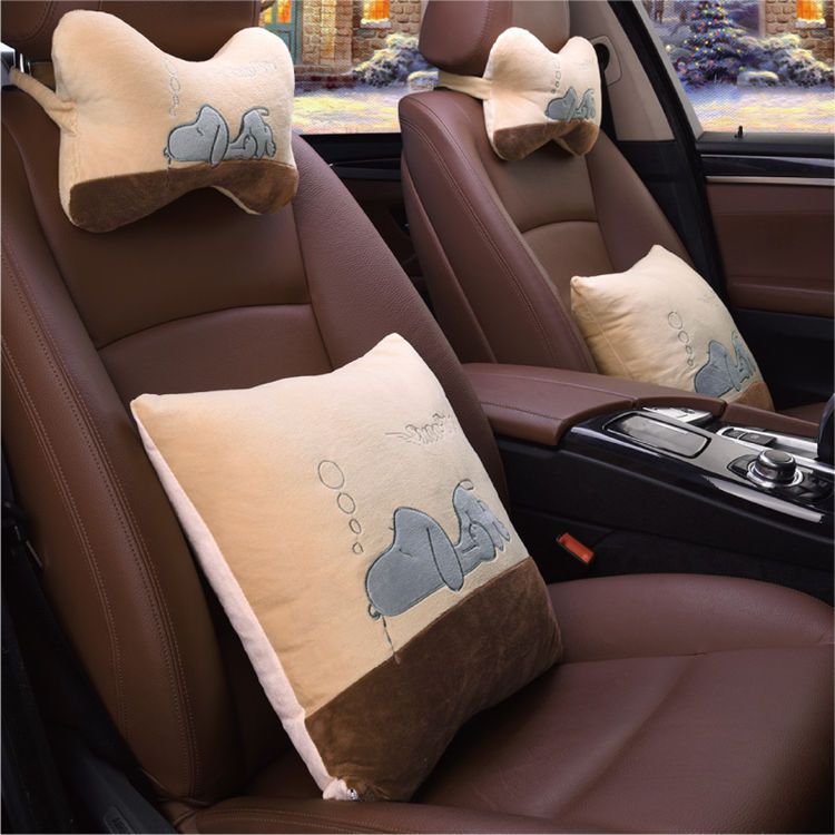 Get Quotations Deluxe Edition Silk Car Seat Four Seasons General Pillow Neck Headrest Lumbar