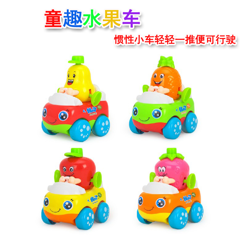Department of music 356 happy team cartoon years old baby fun children's educational toy car inertia pull back toy car