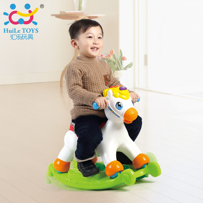Department of music 987 happy acoustooptic plastic dual musical rocking chair rocking horse baby rocking horse infant child toy gift horse