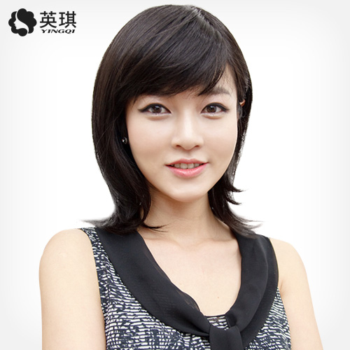 [Deposit 20 yuan arrived 30 yuan] ying qi ms. hand woven hair replacement block replacement piece wig real hair wig Wig