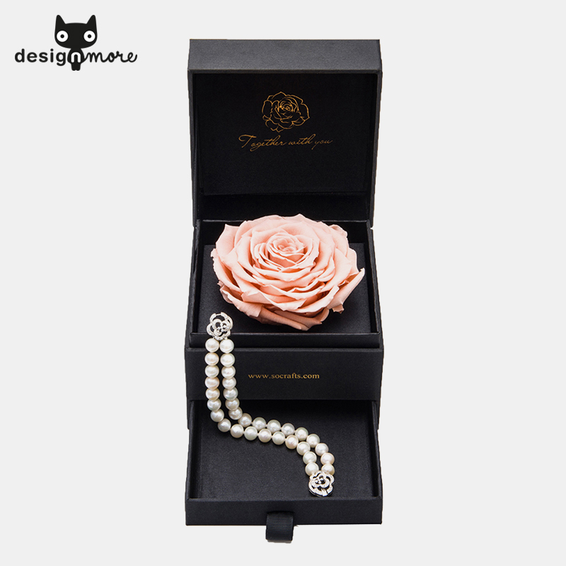 Design cat immortalized rose preserved flower flower preservation series of natural freshwater pearl bracelet female valentines day gifts
