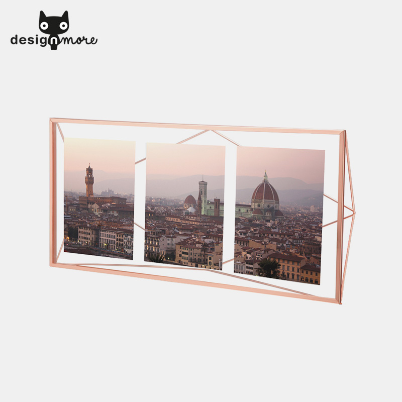 Design cat umbra dimensional diamond minimalist european creative combination photo frame glass frame metal swing sets