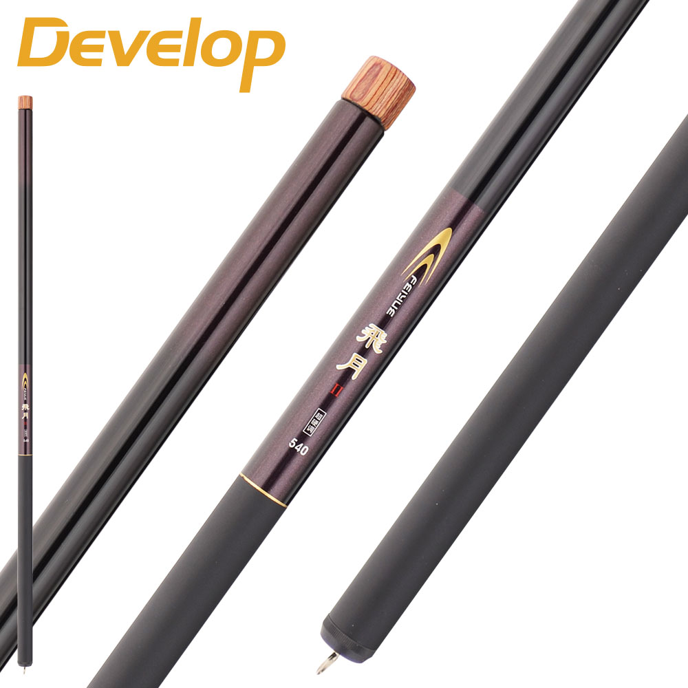 Develop east peer deschamps creek fly on 28 long section of ultrafine superhard carbon ultralight tune streams pole fishing rod free shipping