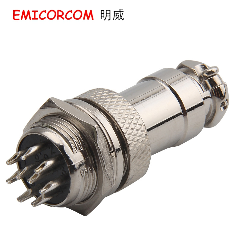 Df16 gx16-8p 8 core aviation plug connector 16 m-8 p 16M-8A 8b