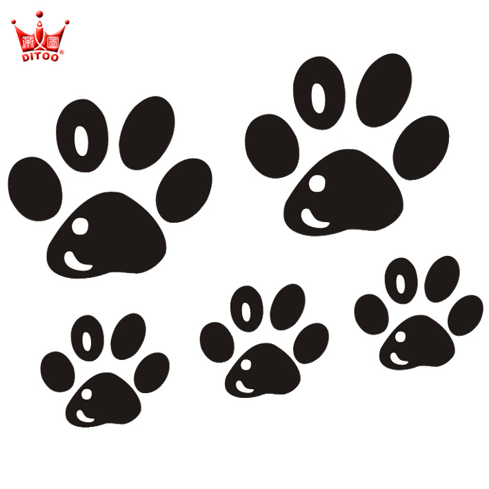 Di figure reflective car stickers car stickers affixed to cover scratches stickers affixed footprints paw paw paw print personalized decorative block small scratches