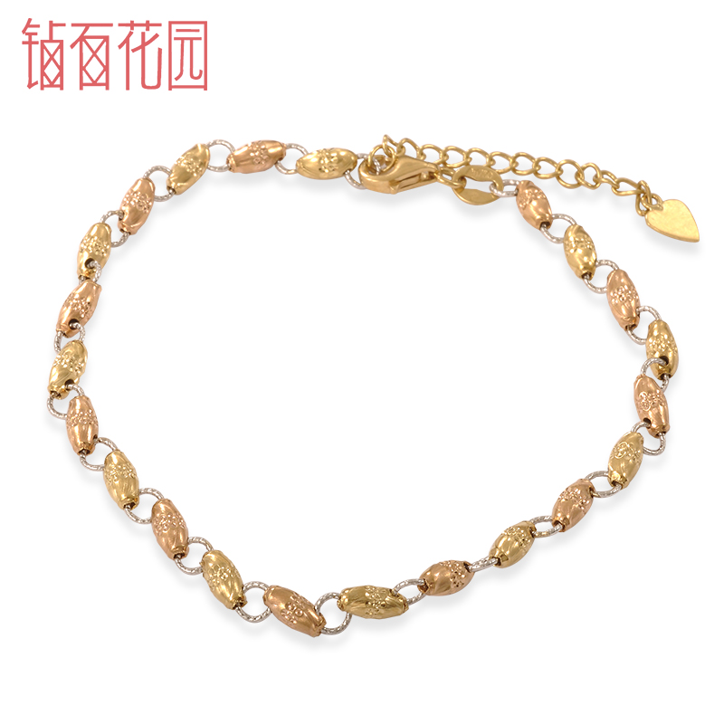 Diamond 18k-color gold k gold chain bracelet fashion bracelet genuine summer garden spot shipping