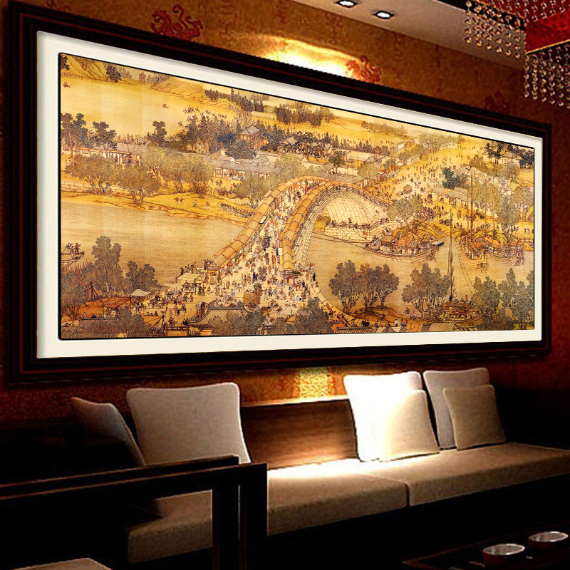 Diamond painting the living room full of diamond drill square painting full diamond stitch diamond paste painting landscape painting china wind