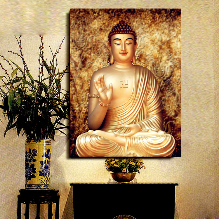 Diamond paste diamond rhinestone embroidery stitch 5d diamond diamond embroidery painting masonry painting show full diamond drill diamond paste painting the living room sharply buddha tathagata buddha
