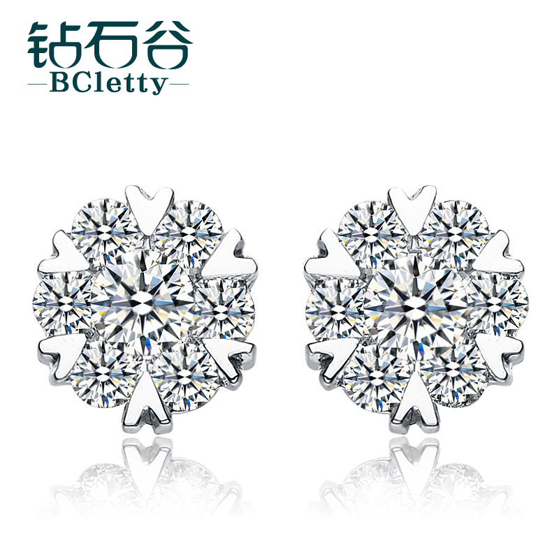 Diamond valley diamond stud earrings k white gold diamond luxury diamond cluster earrings elegant fashion