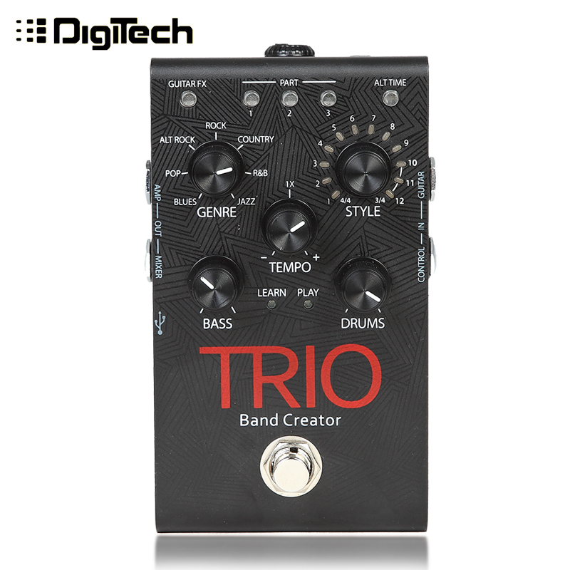 Digitech trio band since hi intelligent drum accompaniment bass guitar effects creator talisman