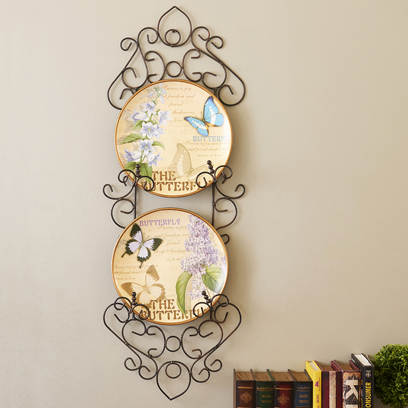 Dila american pastoral bird decorative plate hanging plate piece suit painted wall mural wall decoration wall hangings