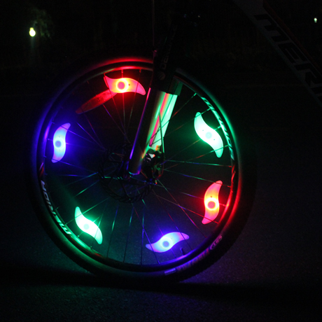 Dilu shi bike spokes lamp equipment accessories willow hot wheels bike lights warning light bicycle accessories