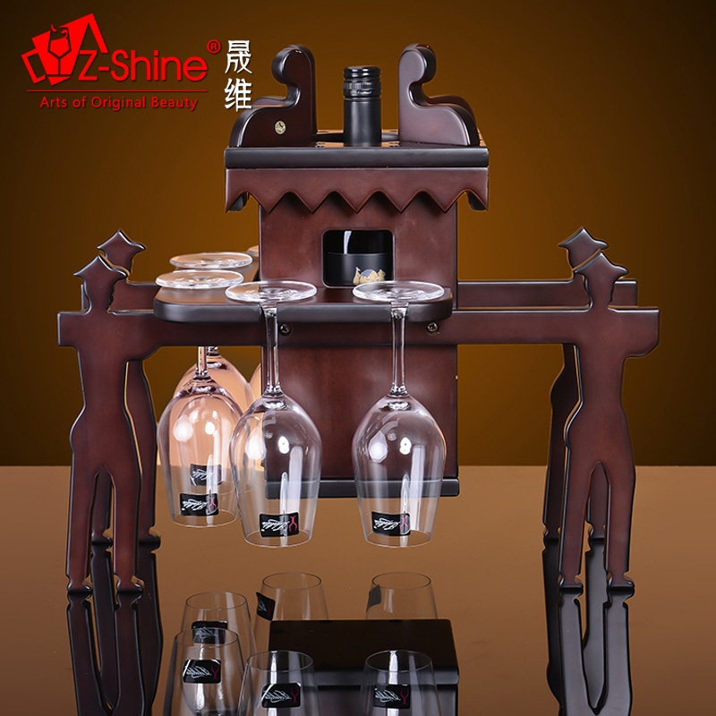 Dimensional z-shine sheng chinese vintage wine rack wine rack wine rack wine rack wine glass upside down cup holder cup holder fashion home
