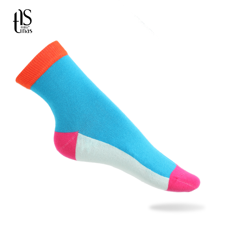 Dina si ms. fall and winter multicolor fashion breathable warmth girls dongkuan thick warm socks 5 pairs of dress