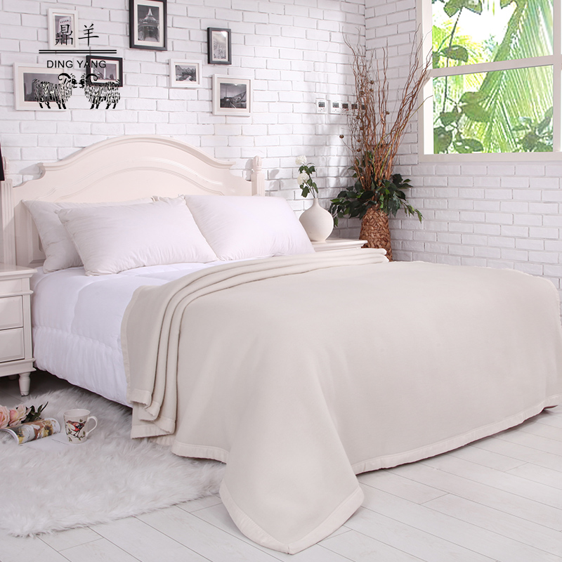 Ding yang highbrow pure cashmere blankets double thick winter blanket blanket on the bed gifts to share high-quality wool