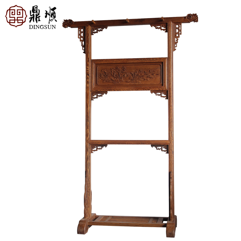 Dingshun hangers upscale antique ming and qing furniture wenge wood mahogany furniture wood wooden clothes rack