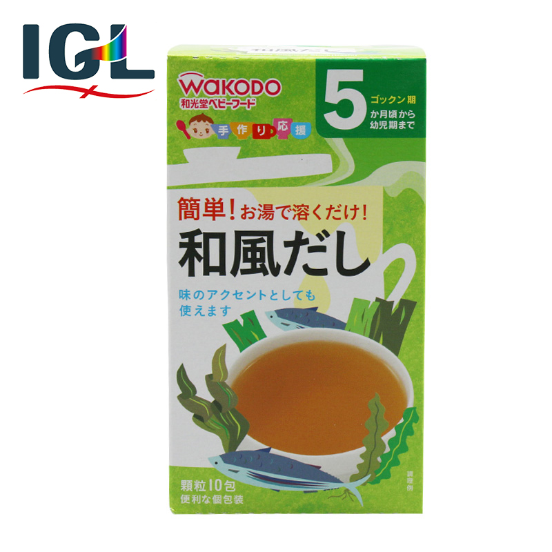 [Direct mail] japan wakodo infant baby food supplement wind bonito kelp soup nutrition 5 months
