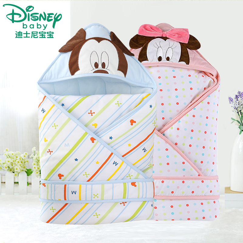Disney baby fall and winter baby was coated cotton blankets newborn hold is autumn and winter thick section of the spring and autumn thick