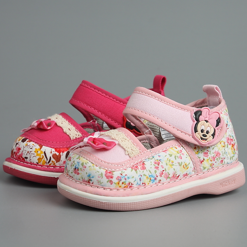 Disney children's children in spring and autumn baby toddler shoes soft bottom slip toddler shoes canvas shoes cs0090 jiaojiao