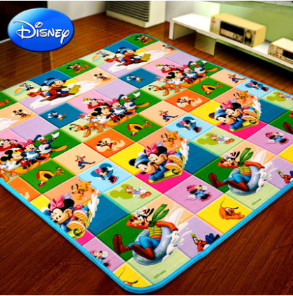 Disney disney baby crawling mat green mat crawling infants and children climb pad plus 2 cm thick mat crawling