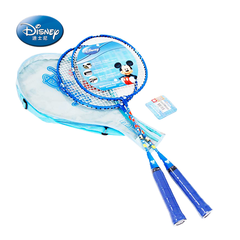Disney/disney genuine children badminton racket badminton racket ferroalloy two loaded one pair beat two free shipping to send film sets
