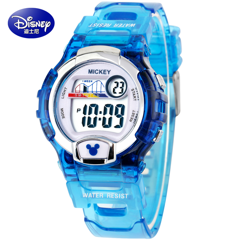 Disney girls watch electronic watches luminous waterproof outdoor sports watches for men and women students children watch girls
