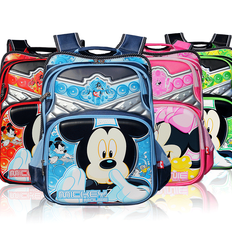 Disney schoolbag boys and girls grades children boys and girls double shoulder backpack schoolbag mickey