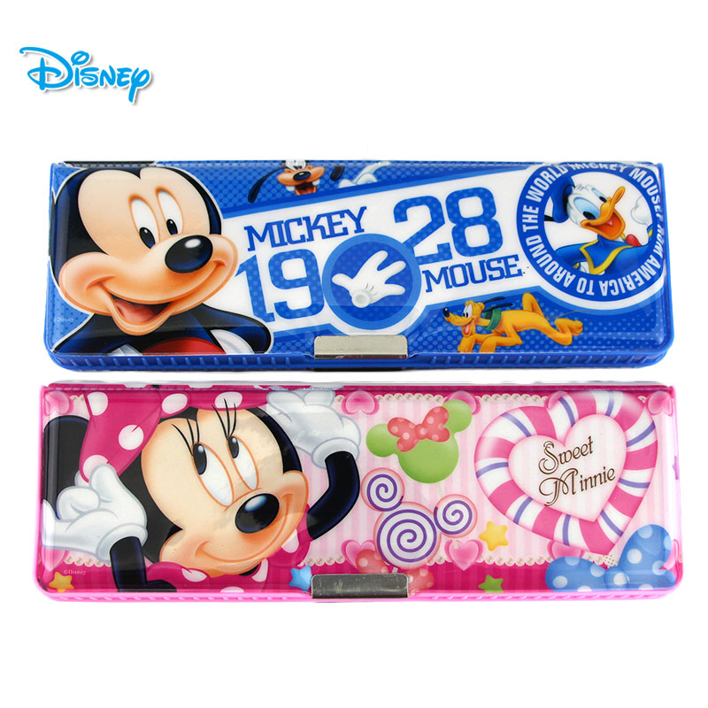 Disney stationery plastic pencil case stationery sided pencil case pencil box large capacity for male and female students korean version of the cartoon