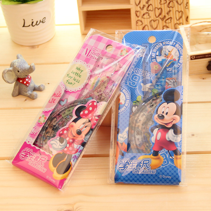 Disney stationery sets foot student sets foot cartoon family of four children creative drawing mapping tools