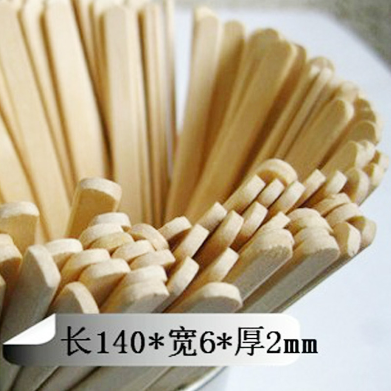 Disposable wooden coffee stir sticks tune paper sleeve individually wrapped convenient health 50/bag 14 cm