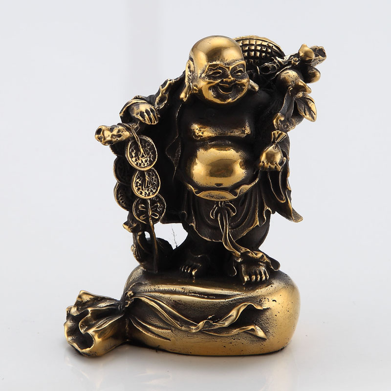 Diving door ã pick copper wishful laughing buddha laughing buddha gold ornaments living room small ornaments gifts pre-2015