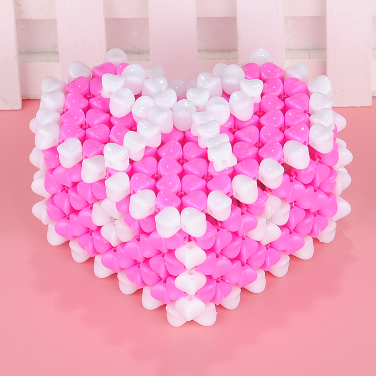 Diy beaded handicrafts material package of love hearts bow jewelry storage box wedding gift to send to friends