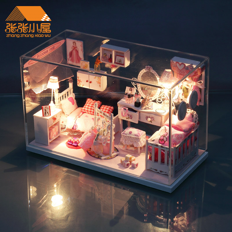Diy cabin dream princess room house villa building model assembled by hand birthday gift girls