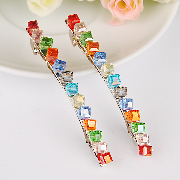 Diy fashion jewelry fashion jewelry accessories hairpin hair clip the top trim clip handmade crystal beaded material package