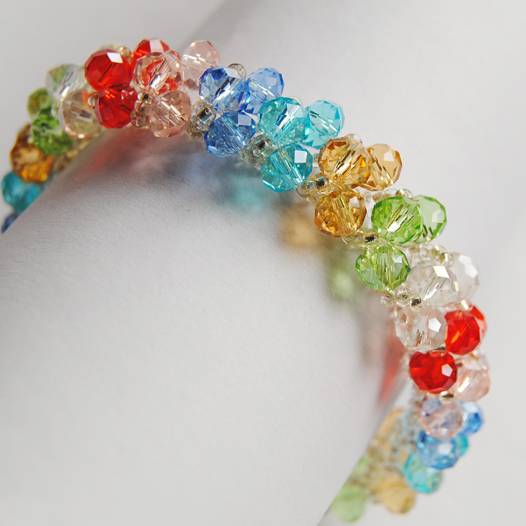 Diy handmade crystal beaded material package colorful bohemian jewelry bracelet bracelets beads imported from japan