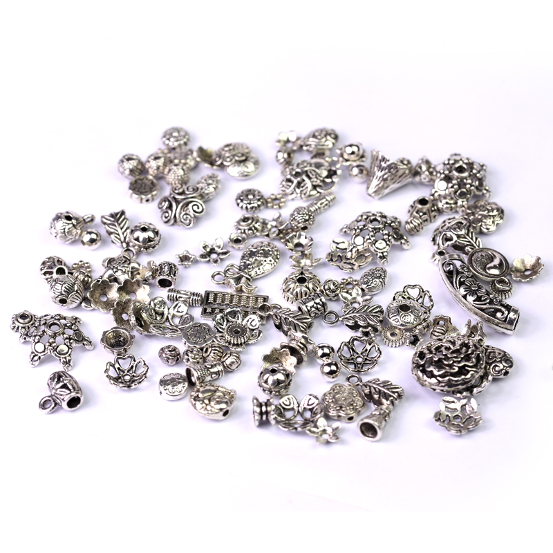 Diy jewelry accessories material bi hong random models of ancient silver miao silver accessories tibetan silver accessories a premium package