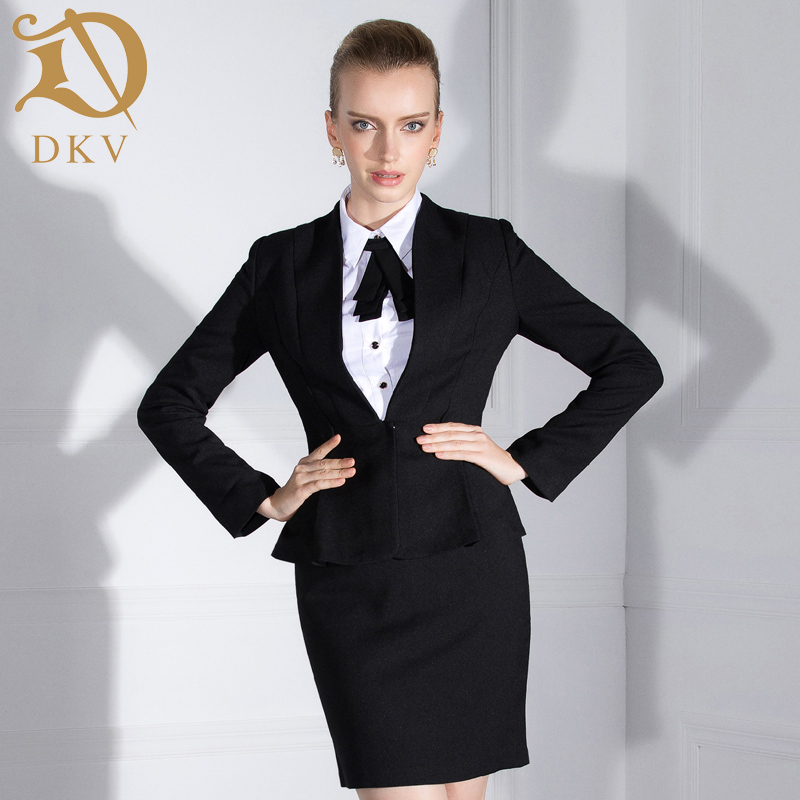 Dkv collar slim skirt suit women wear suits ol interview suit business suits overalls tooling autumn