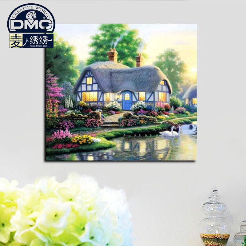Dmc cross stitch kit genuine monopoly substantial living room landscape series of new paintings in the countryside township strong italian pro
