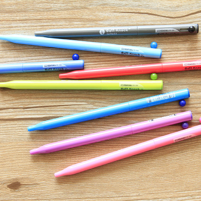 Do home side by a small ball ball knock the whole needle 0.5 gel pen color kind of gourd cute pen