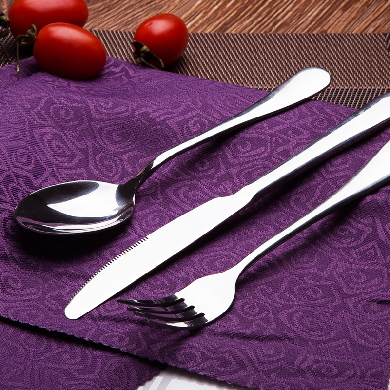 Do not rust feel good stainless steel cutlery set western knife and fork piece cutlery knife and fork spoon three sets of cattle row